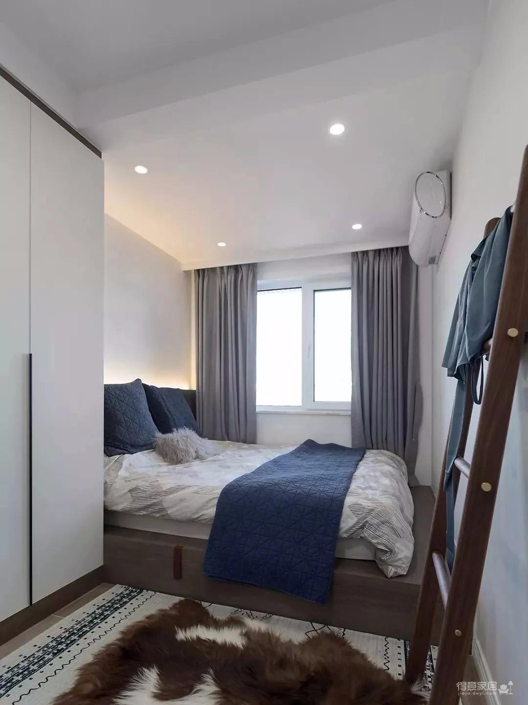 69㎡现代北欧2室1厅,电视背景墙还能这样设计!
