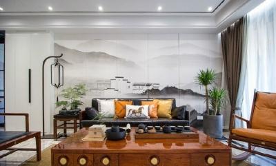 110平现代中式,内敛,舒适,追求空间意境之美。