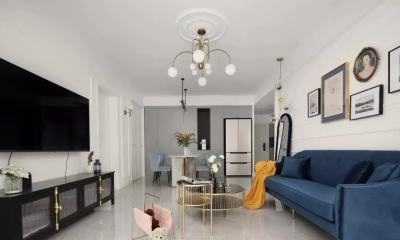 85㎡轻奢法式2室2厅,轻盈而优雅的小资情调