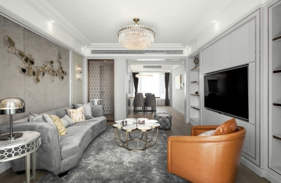 126平三室两厅现代美式