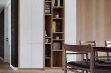 这套案例的风格是北欧风格,业主有收集中式字画的爱好,房子所有的画都是客户自己收集的图_8