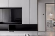 95平现代,简单的黑白搭建构造无限的丰富层次图_3