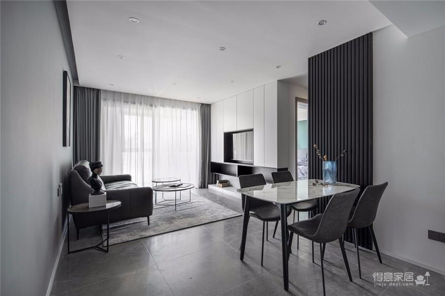 95平现代,简单的黑白搭建构造无限的丰富层次图_6
