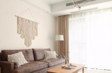 89㎡日式风三居室装修,原木收纳柜+薄荷绿配色,从玄关美到卧室!图_2