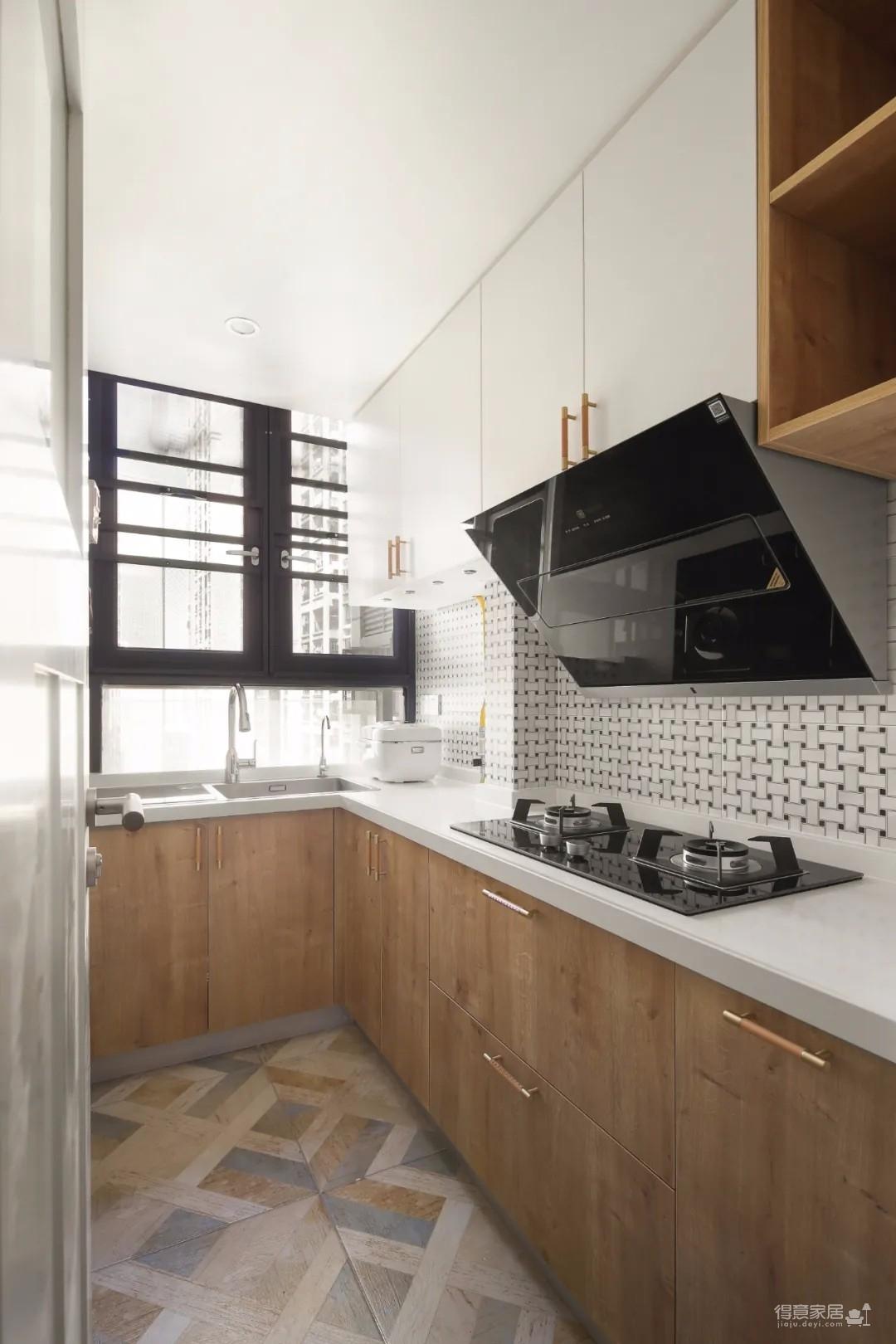 89㎡日式风三居室装修,原木收纳柜+薄荷绿配色,从玄关美到卧室!图_7