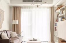 89㎡日式风三居室装修,原木收纳柜+薄荷绿配色,从玄关美到卧室!图_1