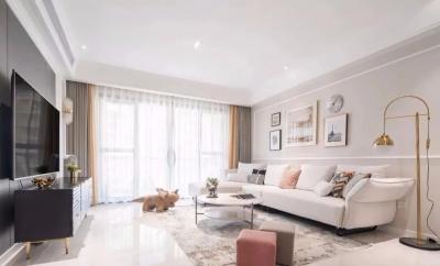 115㎡轻奢美式3室2厅,浪漫缤纷的优雅情调