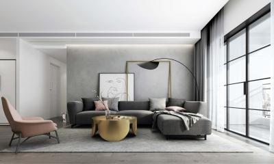 180平现代风格,能简胜繁,整个空间显得通透大气