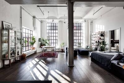 100平三室两厅现代工业风混搭