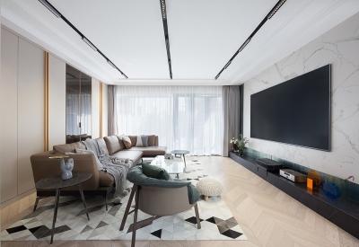 145现代无主灯设计,让空间更具高级感