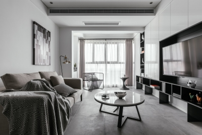 134平三室两厅灰色系现代风