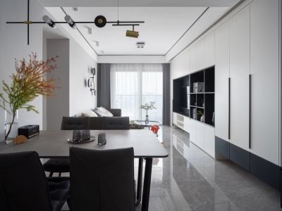 145平黑白极简的框架里蕴藏着家的温暖