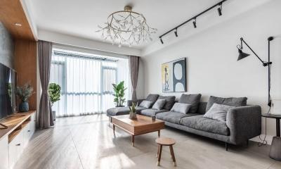 141㎡舒适北欧3室2厅,享受慵懒随性慢生活