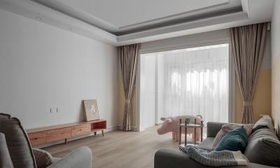 123㎡舒适北欧3室2厅,轻盈柔和的暖心之家