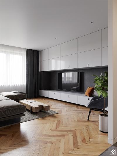 三室现代婚房设计
