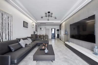130㎡新房,装修虽然简单,却藏不住高级感,进门氛围就超放松!