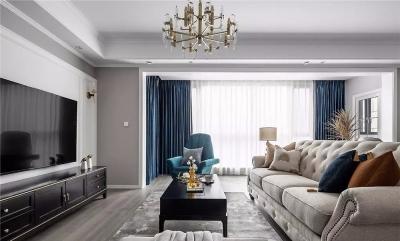 130㎡轻奢美式3室2厅,打造一见倾心的优雅风范