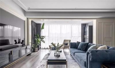 130㎡轻奢美式3室2厅,品味气质高雅的艺术格调