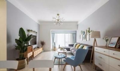 109㎡打扫干净真漂亮,很清新的装修风格,特别喜欢这样的客厅!