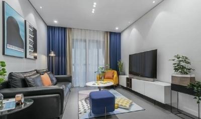 114平三室两厅现代轻奢风