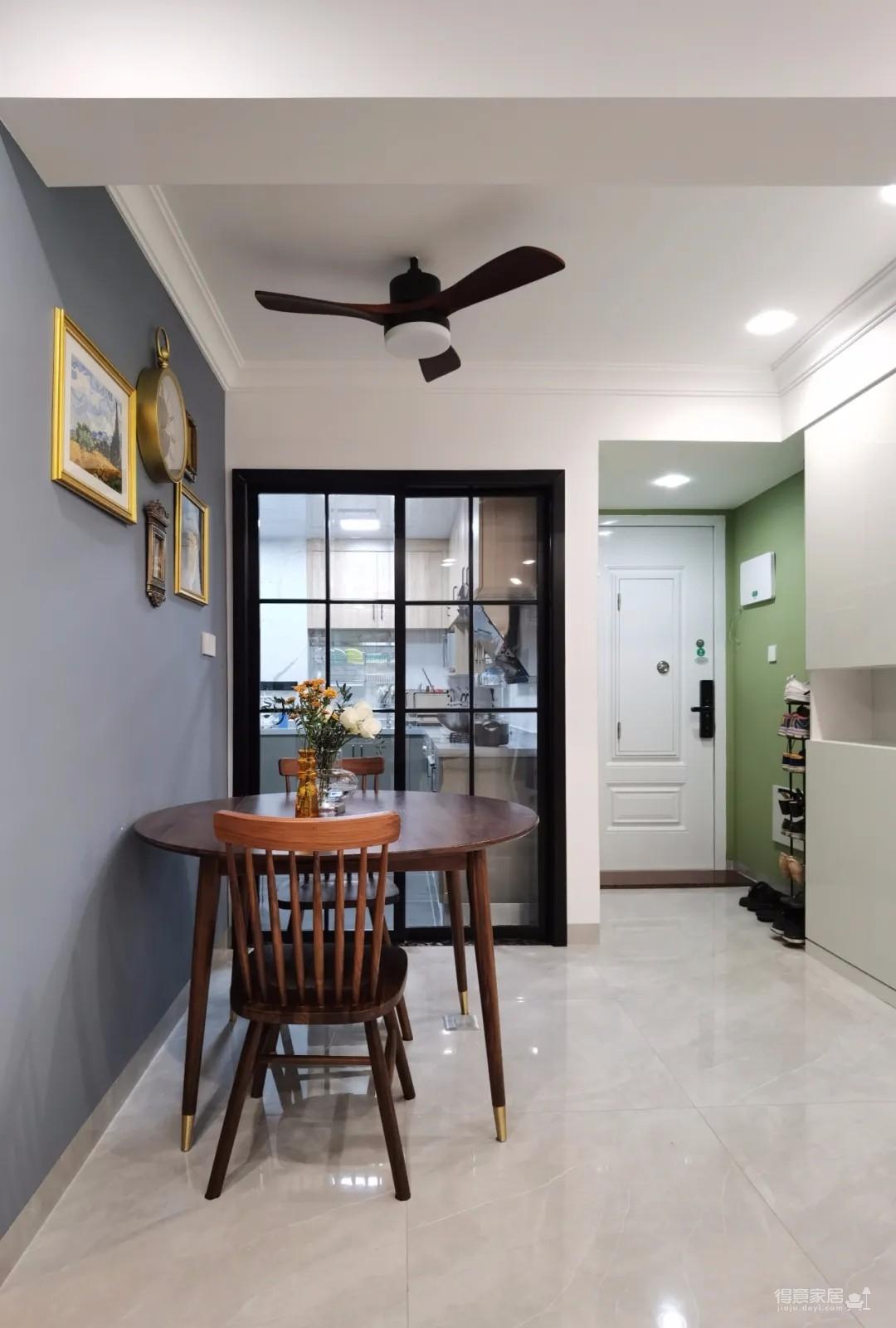 80㎡学区房改造,深浅蓝色搭配,8㎡厨房...三代同堂也不拥挤!