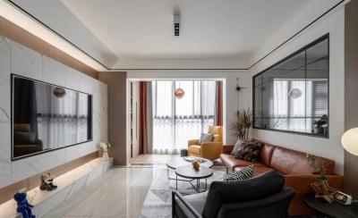 91㎡简约风三居室,沙发墙开窗、卡座餐厅、步入式衣帽间…做梦都想住的家!