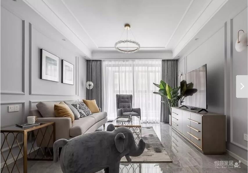 116㎡轻奢美式3室2厅,细节与质感的完美演绎