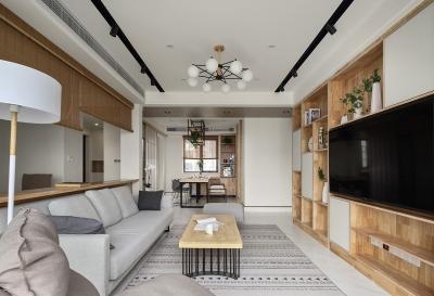 110平三室两厅休闲原木风