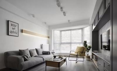 93㎡现代北欧3室2厅,榻榻米和书房简直绝配!