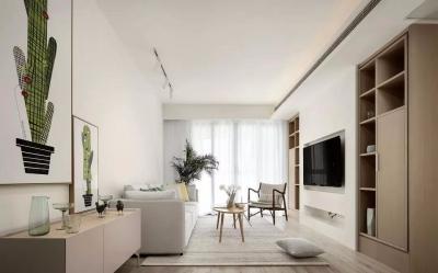设计师爆改客厅储物空间,还嵌入了电视机!
