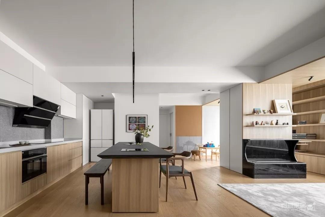 93平现代原木风,将空间完全归于生活