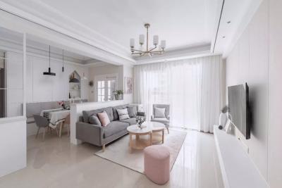 80㎡北欧小三房,简洁实用的空间搭配上精致舒适的软装,浪漫优雅!