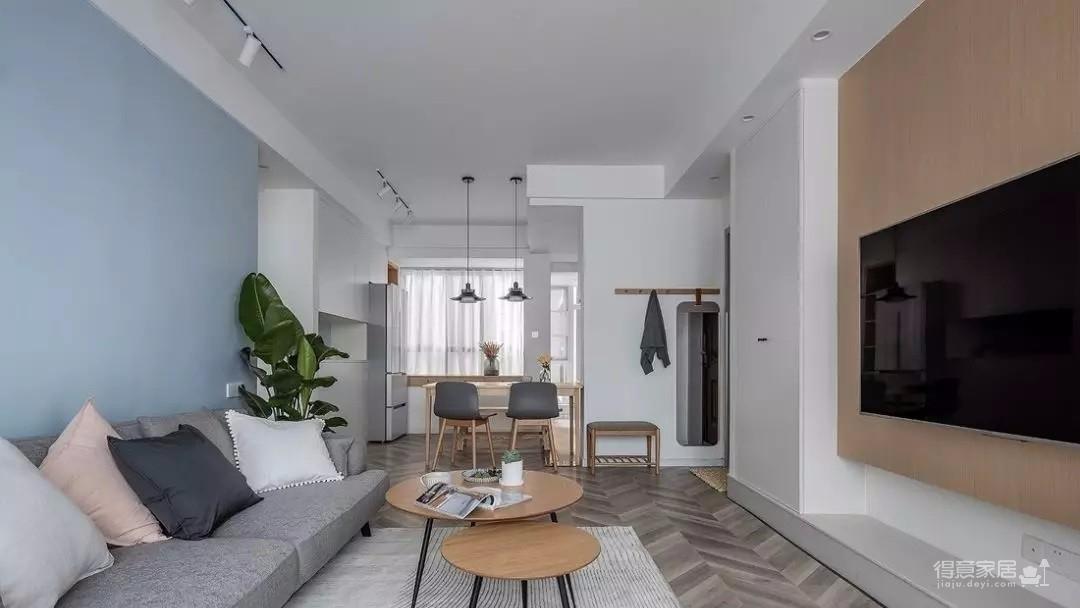95㎡现代北欧3室2厅,气质出众的舒适美家