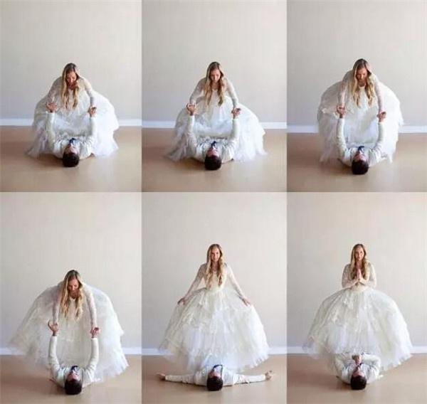 各位佳人,你一定沒有想過和另一半去拍一套瑜伽婚紗照吧!圖片