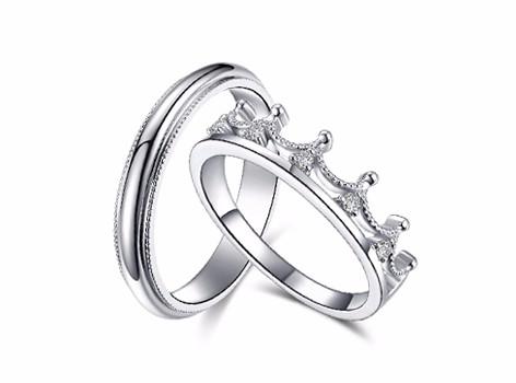 【谛珂珠宝】公主骑士结婚对戒 定制戒指