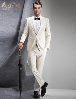 时尚白色套西商务套装